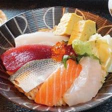 ◇海鮮ちらし丼◇(茶碗蒸し・赤出し付き)