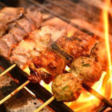 備長炭と職人技で焼き上げる新鮮地鶏