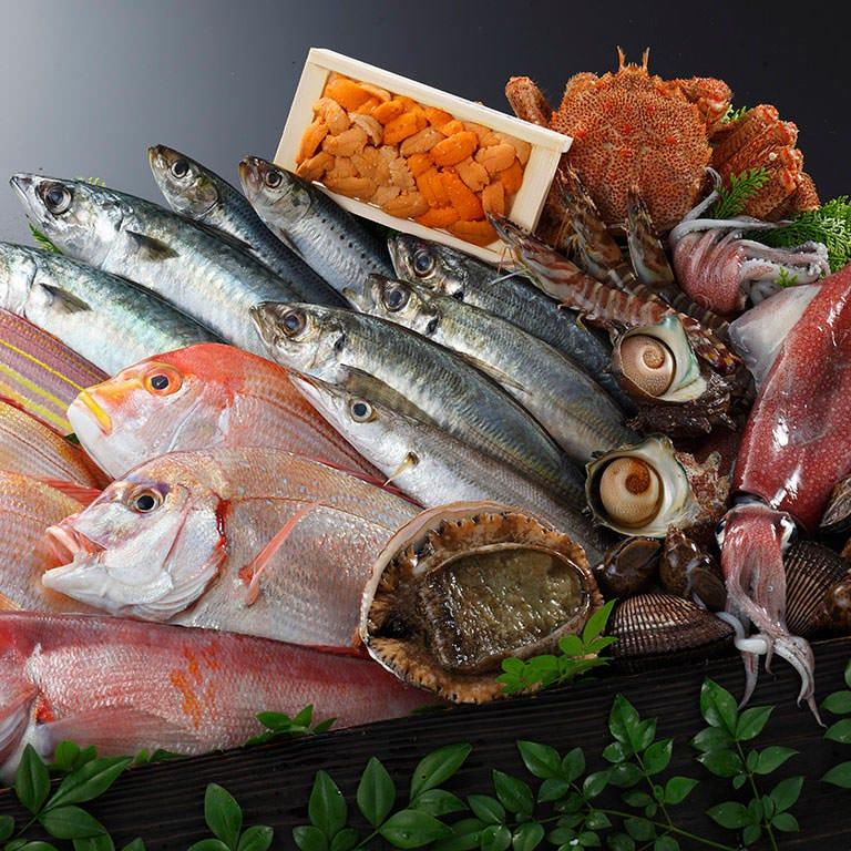 全国47漁港より旬の鮮魚を毎日入荷