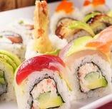 創作寿司ロールランチ