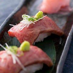 炙り牛肉の握り寿司