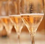 乾杯ドリンクはぜひスパークリングワインで♪