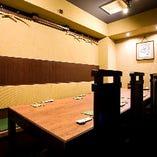 6~9名様用のテーブル個室です。接待に使いやすいお席です!