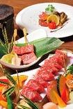伊万里牛の極上A5ランクを使用した牛ステーキや熔岩焼は絶品。