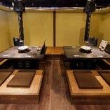 ≪木造洋館≫お座敷のお席は机をつなげて最大10名様までOK!