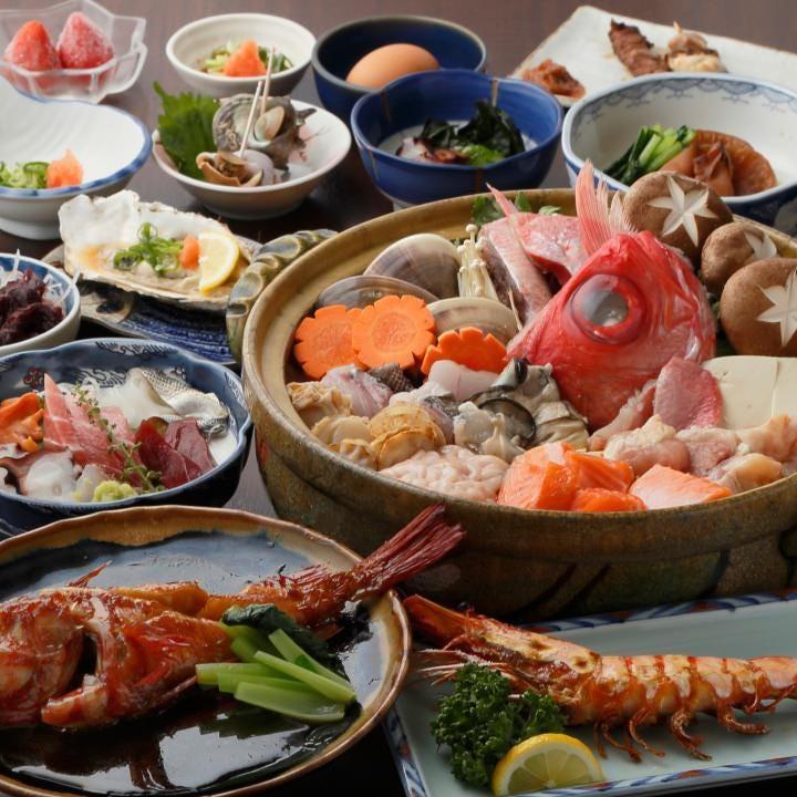 海鮮料理を満喫できるコースがずらり