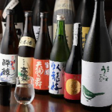 料理の味を引き立てる日本酒が勢揃い