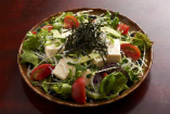 豆腐としらすのサラダ