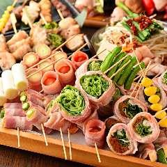もつ鍋に野菜巻き串 博多うまかもん酒場 花の宴 金山駅店
