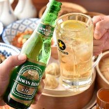 台湾ビール&アジアンドリンクで乾杯