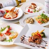 記念日におすすめ!季節の食材を活かしたコース料理は5,000円~