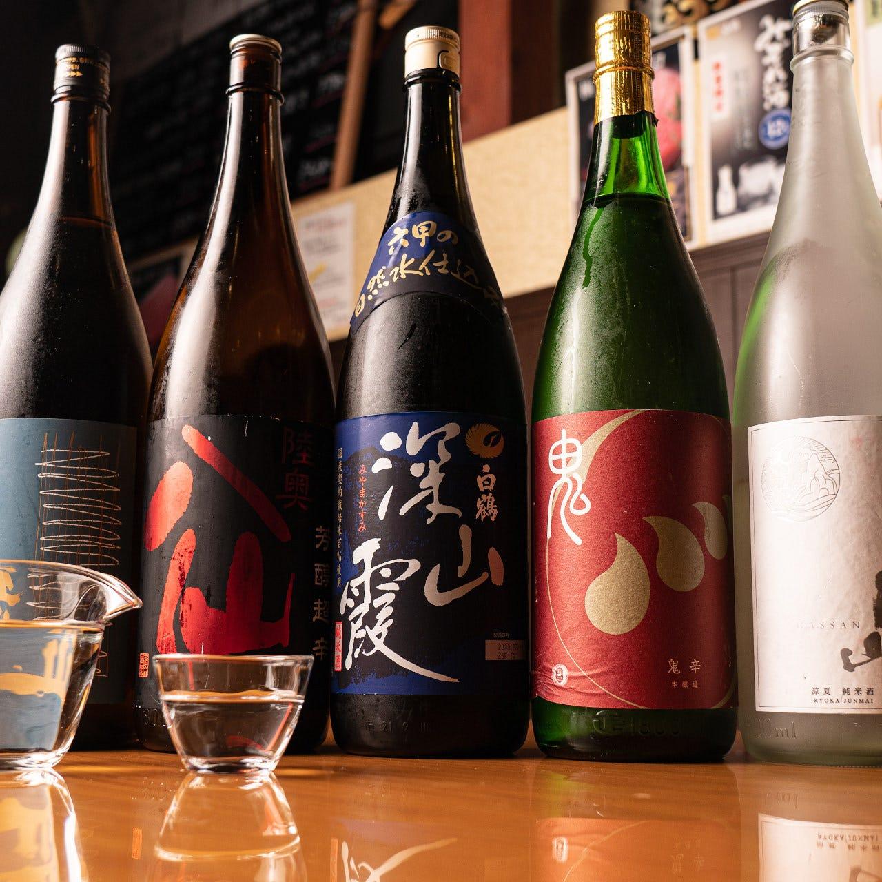 料理に合う多彩な日本酒をご用意