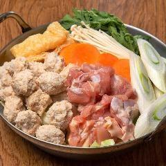 濃厚コラーゲン!大山鶏つくね白湯鍋