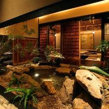 老舗旅館のような上質な和の空間