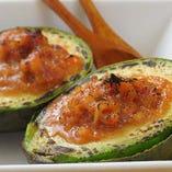 アボカドの生姜味噌焼き♪人気です。自家製生姜味噌がめちゃうま
