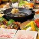 生姜豚しゃぶ鍋コースも人気です。豚の甘みと生姜の愛称が◎