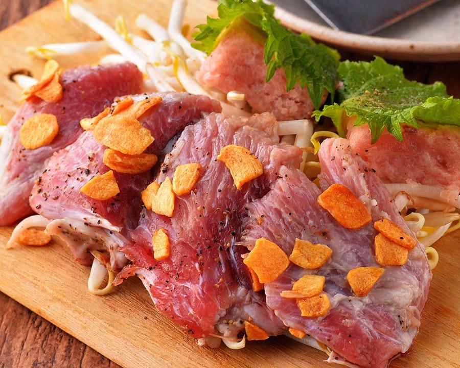 まぐろトロたたき焼&天然まぐろのほほ肉(数量限定)