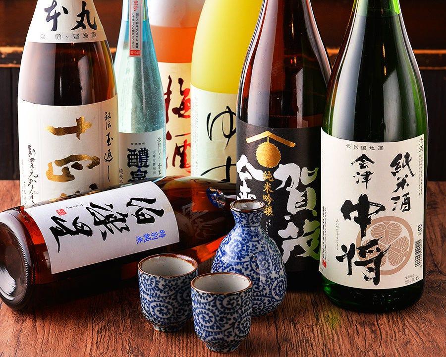 種類豊富な日本酒・焼酎 女性にも飲みやすい上品な味わい
