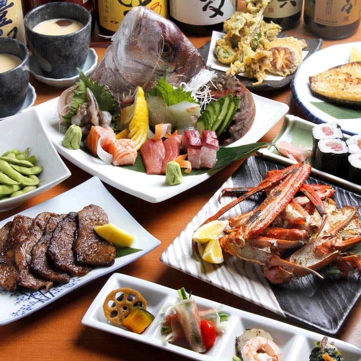 旬魚&旬菜を使用したコースが多彩!季節の宴会に!