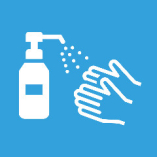 【感染拡大防止への取組:その2】 店内の消毒及び、お客様にも消毒のお願いをしております。
