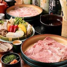 【2H食べ放題】上牛肉か国産豚を選択「焼きしゃぶ・食べ放題プラン」(全3品)各種宴会・食事会
