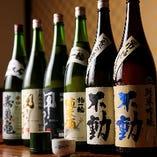 当店が居を構える千葉県産の地酒を10種類以上ご用意しました