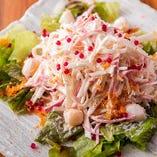 「大根と貝柱のサラダ」は宴会で人気のサラダです