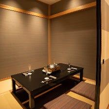 接待・会食に喜ばれる個室が充実