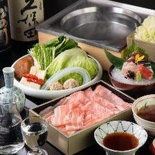 【2H飲み放題付/個室確約】「白金豚・近江牛 食べ比べ13,000円コース」