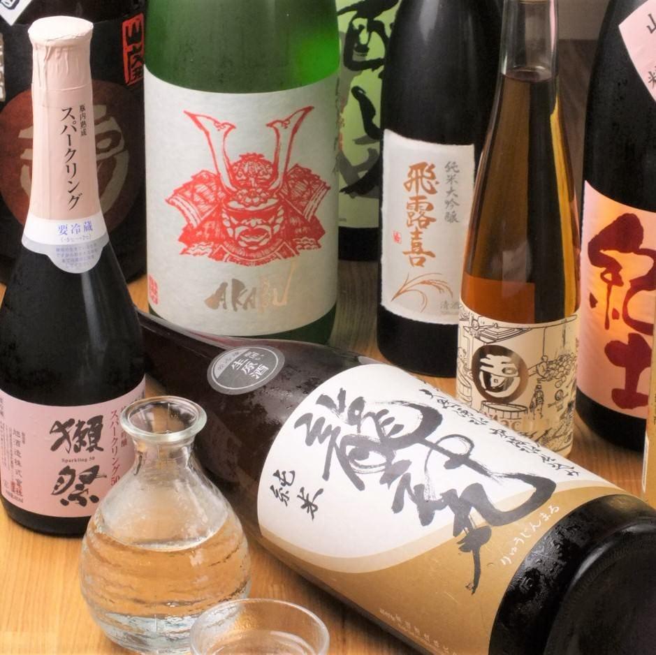 日本酒・梅酒・焼酎など多彩な品揃え