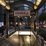 雨の日でも大丈夫♪ユニモール15番出口からすぐ近く!