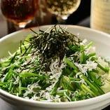 篠島シラスと細ネギのチョレギサラダ