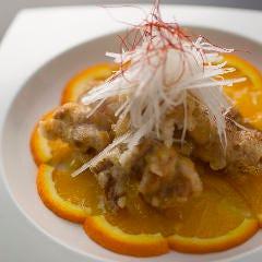 若鶏の唐揚げ 特製オレンジソース