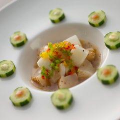 炙り北海道産貝柱と長芋のあっさり和え 柚子風味