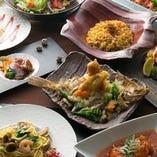 和をベースにした中華料理。味も見た目も美しくて、食べごたえ、満足感あり!