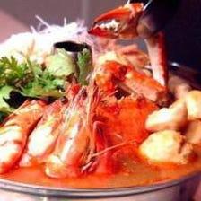 白湯の沙茶火鍋or海鮮火鍋