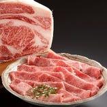 郷土名産飛騨牛ですき焼き・しゃぶしゃぶをご賞味ください。