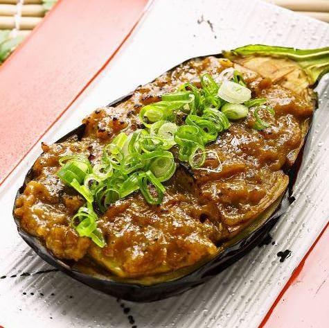 素揚げした肉厚の米茄子と特製鰹味噌の最強コンビネーション。