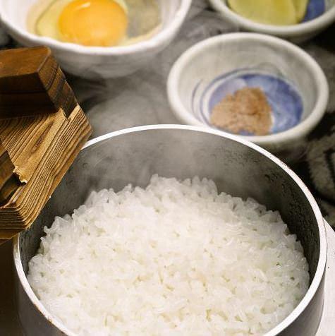 自社ブランド・佐賀明神米。おすすめは土佐ジローの卵でTKG!