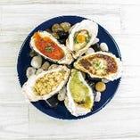 焼き牡蠣 盛り合わせ