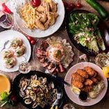 牡蠣料理や旬の味わいを楽しめるコースをご用意