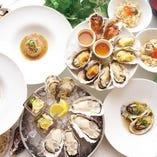 牡蠣料理をたっぷり堪能!牡蠣三昧コース〈全7品〉