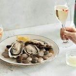 春のオイスターコース〈全7品〉WEB予約限定グラスシャンパン付※1日前要予約