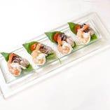 海老と牡蠣マリネのカプレーゼ