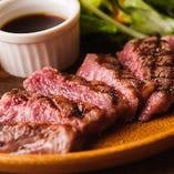 【多彩なステーキ】 手頃なハラミから贅沢サーロインまで♪
