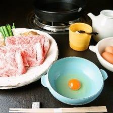 【宴会・会食に】宮崎牛or伊予牛 A5ランクの牛を使ったすき焼きコース≪6,500円~≫