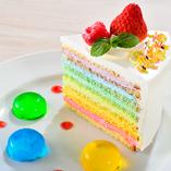 レインボーショートケーキ