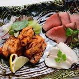 竜田揚げ・ローストビーフ・蒸し鶏の人気セット