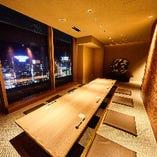 山側の夜景が一望 一番人気の完全個室!