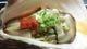 プリプリの生ガキは(大)一皿2個付きです。